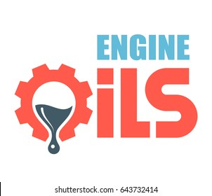 Engine oils logo. Vector illustration.
