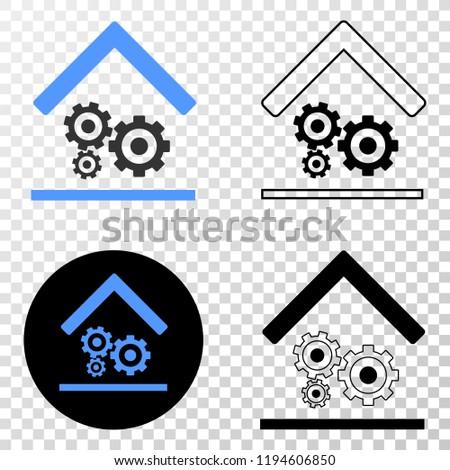 Engine Service Garage EPS Vector Pictograph Stock Vector