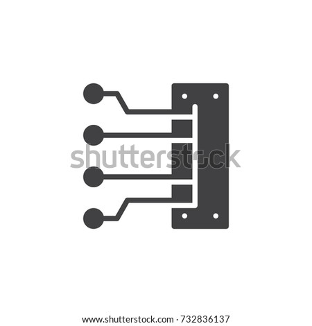Engine Spark Plug Wires Icon Vector Stock Vector Royalty Free