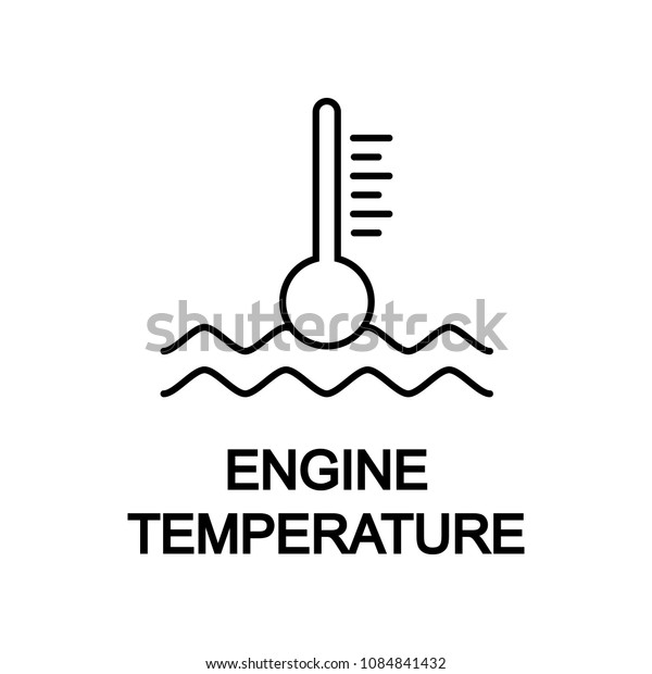 engine temperature icon. Element of car repair for mobile concept and web apps. Detailed  icon can be used for web and mobile. Premium icon on white background