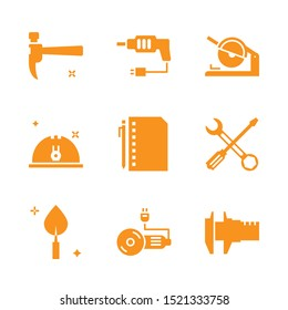 Engineer and civil tool solid icon on white isolated background. for website and mobile application, Editable icon.