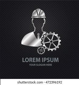 Engineer design ,silver concept,clean vector