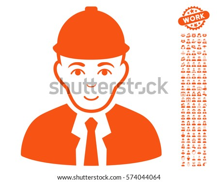 Engineer Icon Bonus People Symbols Vector Stock Vector Royalty Free