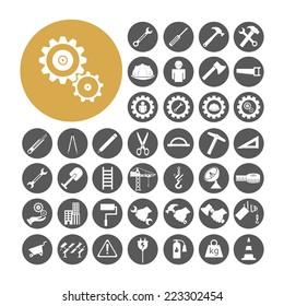 Engineer Icon set vector illustration