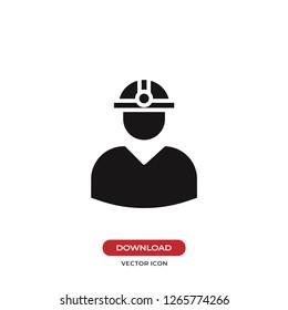 Engineer icon vector