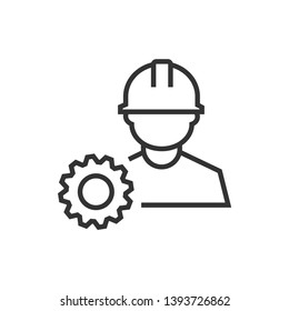 engineer, industry, technology, work vector icon