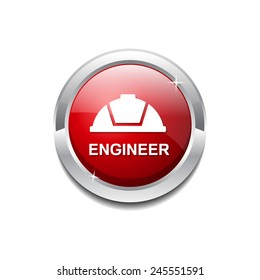 Engineer Red Vector Icon Button