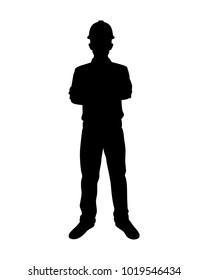 Engineer silhouette,Vector for your web site design, logo, app, UI. Vector illustration, EPS