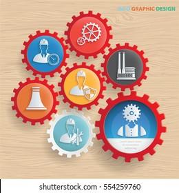 Engineer,Industry concept design,clean vector