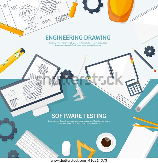 Engineering Architecture Designflat Styletechnical