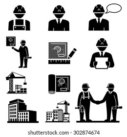 Engineering and Construction project manager.icons vector