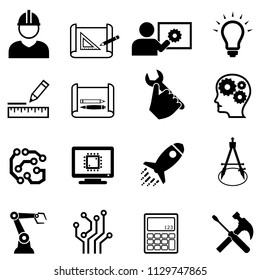 Engineering and design related web icon set