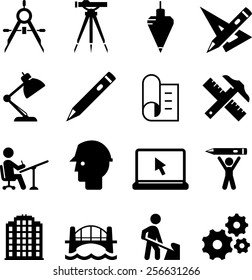Engineering and drafting icons