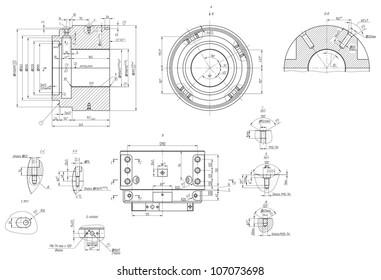 Engineering Drawing Images, Stock Photos & Vectors | Shutterstock