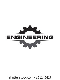 Engineering Simple Logo, Gear Logo