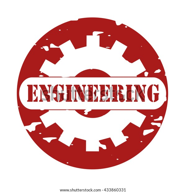 Engineering Text On Logo Rubber Stamp Stock Vector (Royalty Free