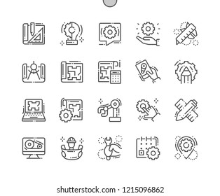 Engineering Well-crafted Pixel Perfect Vector Thin Line Icons 30 2x Grid for Web Graphics and Apps. Simple Minimal Pictogram