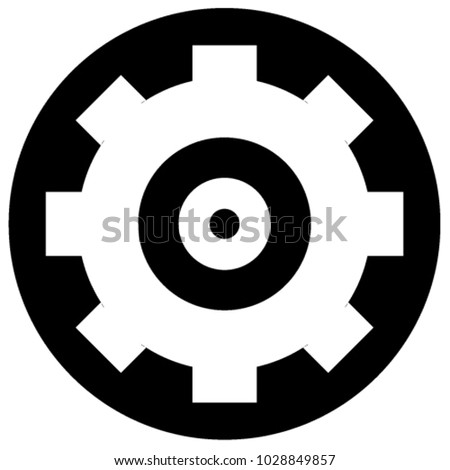 engineman insignia gear icon stock vector royalty free 1028849857