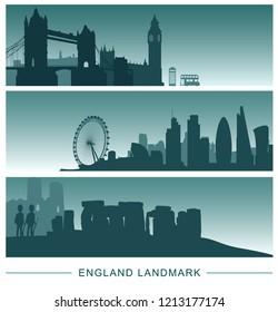 England banner landmarks