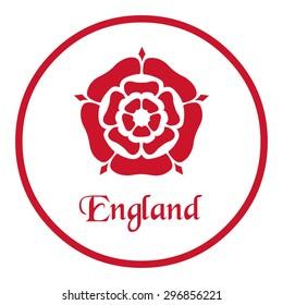 England emblem with the Tudor Rose