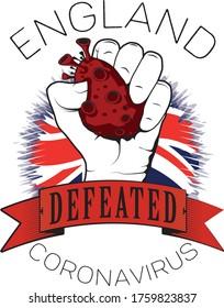 england europe coronavirus win defeated color flag fist vector illustrator printable template full quality
