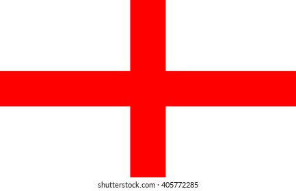 England Flag, official colors and proportion correctly. National England flag. Vector illustration. EPS10.