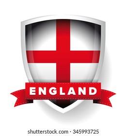 England flag shield vector
