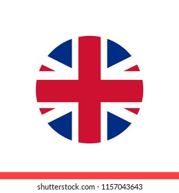 England flag vector icon, circle design for web or mobile app