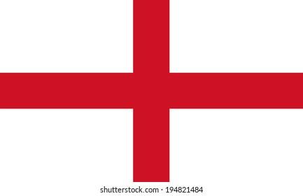 England flag, England vector illustration flag