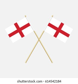 England; England  Flags. Vector illustration.