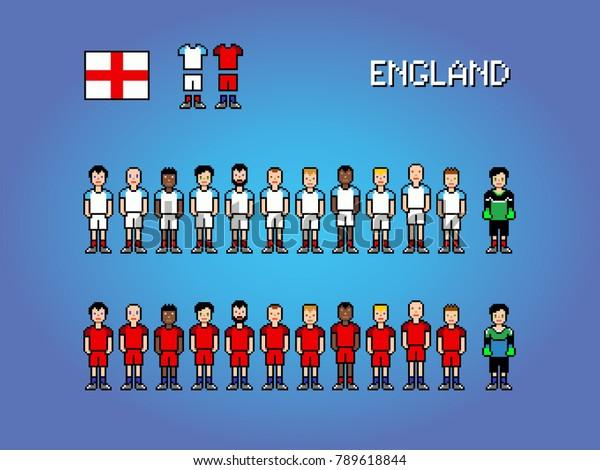 Image Vectorielle De Stock De England Football Soccer Player