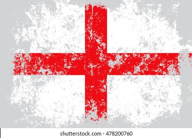 England grunge, old, scratched style flag