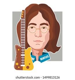 England, Liverpool,  John Lennon, October 9 ,member of The Beatles
