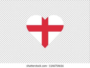 England love heart shape Europe Britan