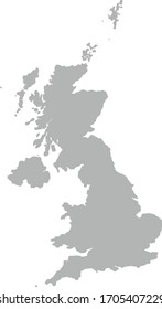 England map on white background .Vector icon isolated