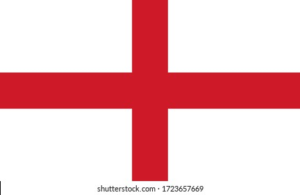 England national Flag Vector illustration.