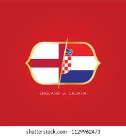 England versus Croatia soccer match.