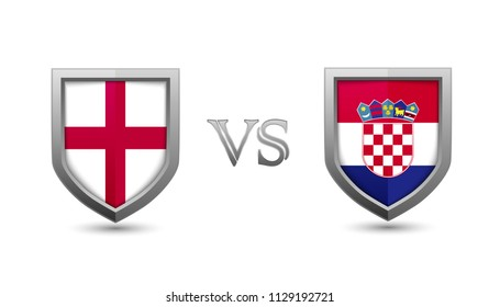 England vs croatia flag shield badges international championship football tournament