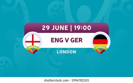 england vs germany match vector illustration Football euro 2020 championship