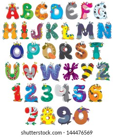 monster alphabet images stock photos vectors shutterstock
