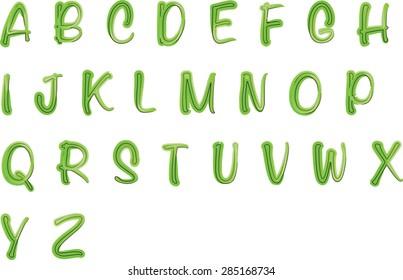 English alphabet A to Z