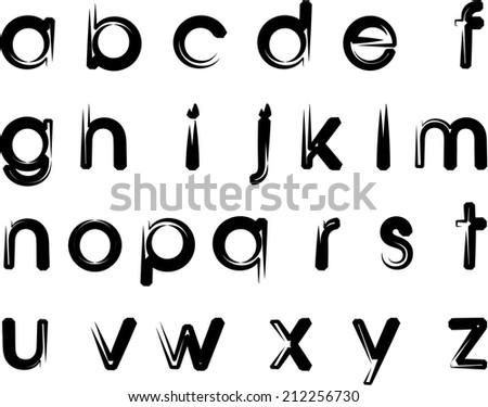 English Alphabet Z Stock Vector (Royalty Free) 212256730