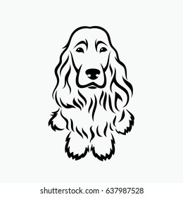 English Cocker Spaniel - vector illustration