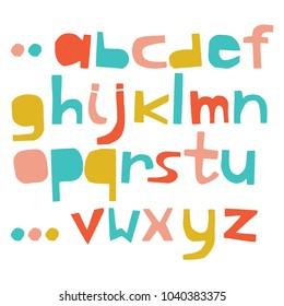 English colorful paper cut alphabet. Cutout letters. Vector script. Letters imitating paper font. Education alphabet, paper design, cut out by scissors from paper.