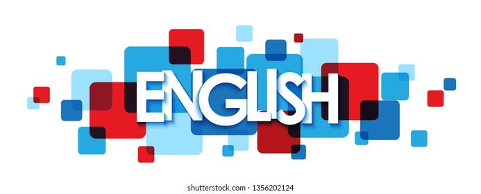 ENGLISH colorful typography banner