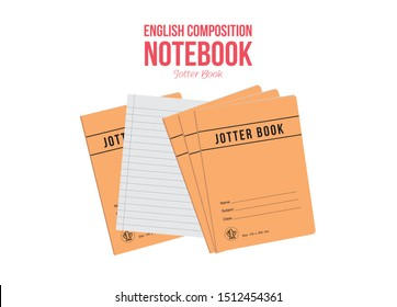 English Composition Notebook - Jotter Book