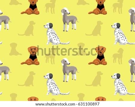 English Dog Wallpaper Bedlington Terrier Stock Vector ...