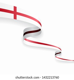 English flag wavy abstract background. Vector illustration.