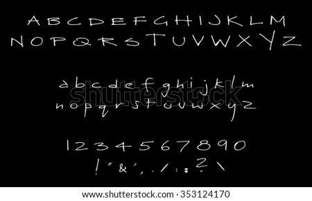English Font Set Alphabet Numbers Symbols Stock Vector Royalty Free