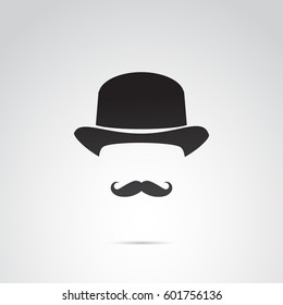 English gentleman icon isolated on white background. Vector art.